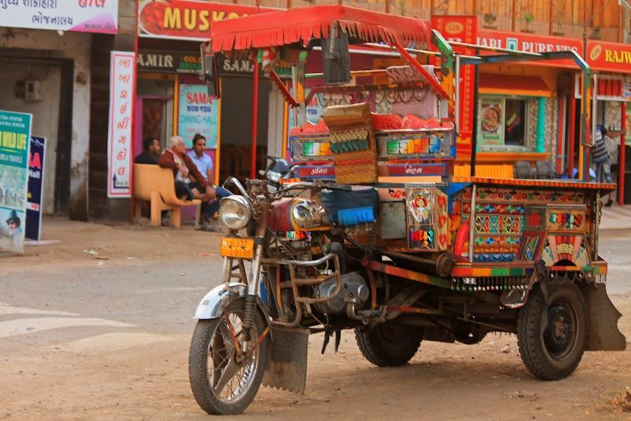 Vivid motorcycle by Srivenkata Subramanian - Transportation Automobiles ( vibrant, gir forest, india, gujarat, rides )