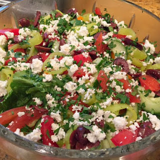 Greek Salad with Dijon Balsamic Vinaigrette