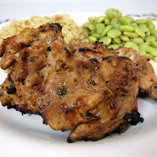 Dijon Grilled Chicken Thighs
