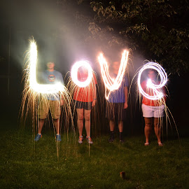 Love by Jeff Sluder - Abstract Light Painting ( love, fireworks, sparklers )