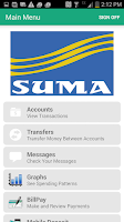 Screenshot of SUMA FCU Mobile