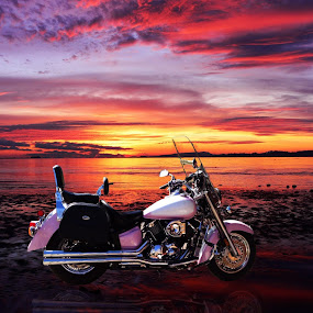 Pink by Dawn Vance - Transportation Motorcycles ( motorcycles, transportation )