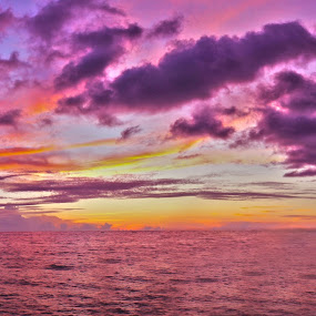 Feel the Magenta Sunset by Rendy Massie - Landscapes Sunsets & Sunrises