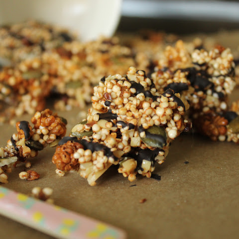 Healthy Fruit and Nut Quinoa Clusters