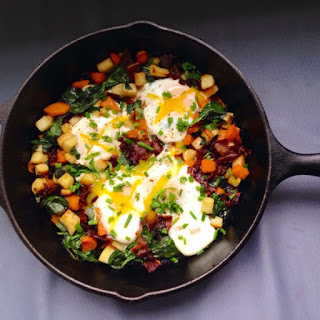 Japanese Sweet Potato Butternut Hash With Beef Bacon