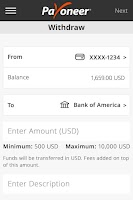 Screenshot of Payoneer