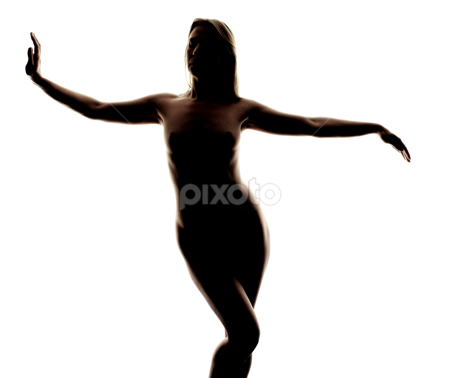 Washed with light by Vineet Johri - Nudes & Boudoir Artistic Nude ( girl, nude, silhouette, art, lady, white background )