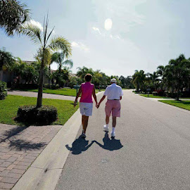Forever love by Pam Kissner Sheedy - People Couples ( love, walking, florida, couple, older couple, holding hands )