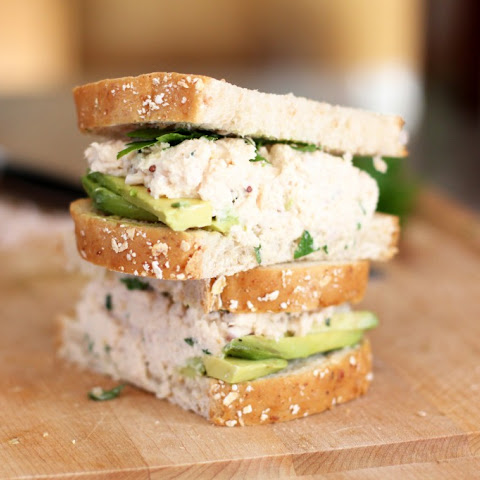 Tarragon and Shallot Tuna Salad Sandwich with Avocado