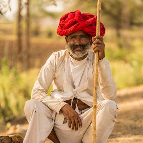 Shepherd by Monish Kumar - People Street & Candids ( rajsthan, rural )