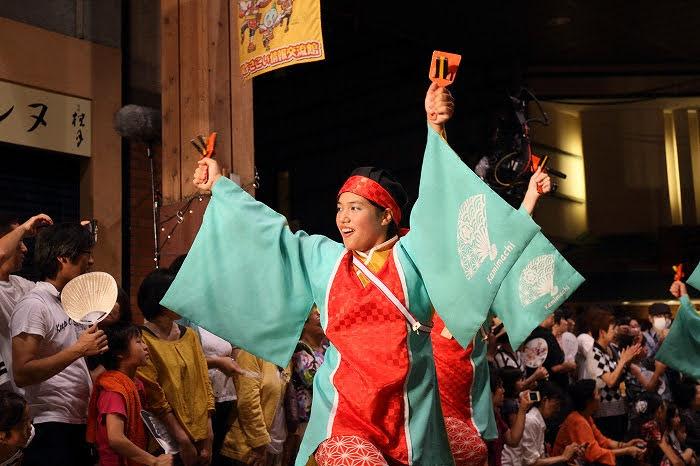 第61回よさこい祭り☆本祭2日目・はりまや橋競演場39☆上1目1465