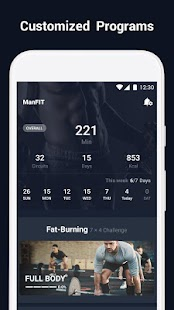 ManFIT - Workout at Home Fitness app screenshot for Android