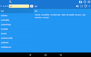 Screenshot of Finnish French Dictionary