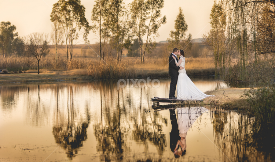 Lake by Lood Goosen (LWG Photo) - Wedding Bride & Groom ( bride, wedding dress, groom, wedding photography, wedding photographer, bride and groom, bride groom, weddings, wedding day, wedding photographers, wedding, brides )