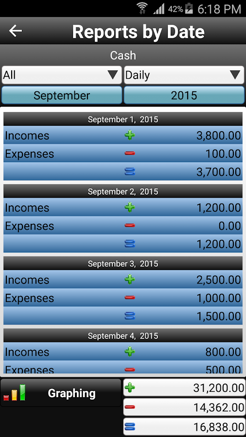 Daily Expenses 2 Screenshot 5