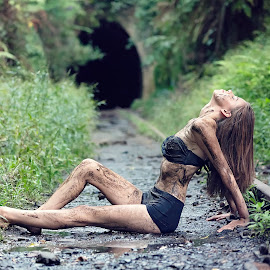 Muddy by Adam Beniston - People Portraits of Women ( dirty, bikini, sexy, muddy, taintracks )