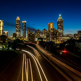 Atlanta by Cliffie Scott-Williams - City,  Street & Park  Skylines