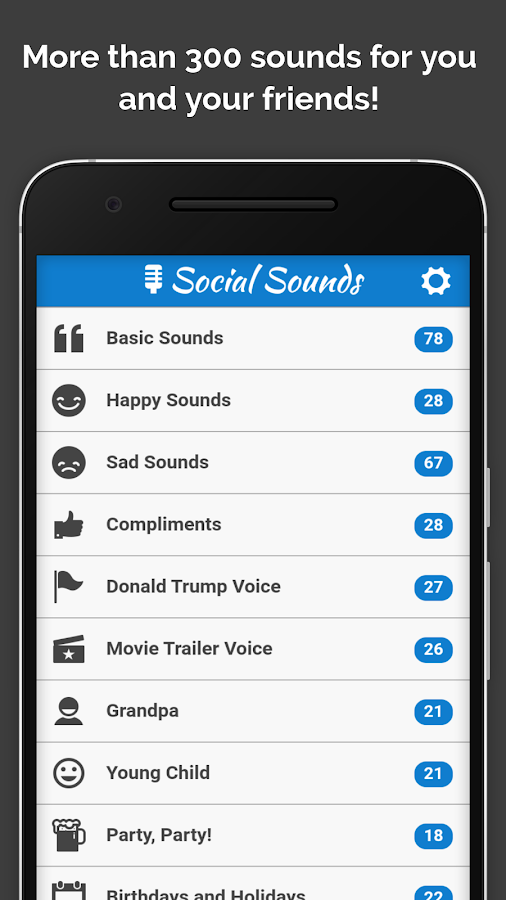 Social Sounds - Remove Ads Screenshot 0