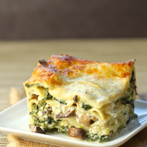 Lasagna with Greens and Mushrooms