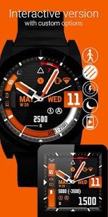 Watch Face Black Orange