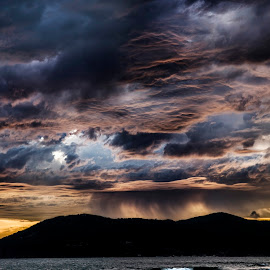 Stormu weather by Elena Salvai - Landscapes Sunsets & Sunrises ( cloud formations, clouds, stormy, nature, waterscape, seascapes, colors, clouds and sea, sea, cloudscape, storm, landscape )