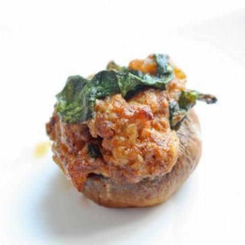 Chorizo, Spinach & Manchego Stuffed Mushrooms (Low Carb and Gluten Free)