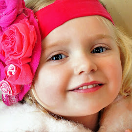 Big Pink Bow by Cheryl Korotky - Babies & Children Child Portraits