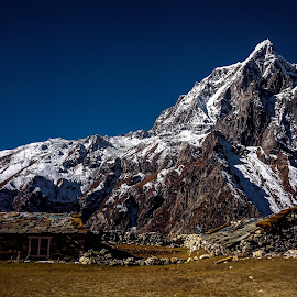 Sweet Home by Akashneel Banerjee - Instagram & Mobile Android ( home, mountain, tawache, himalaya, rocks )
