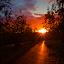 Sunset road by Fabrizio Reali - Landscapes Sunsets & Sunrises ( clouds, colori, sky, nature, colors, sunset, road, shot, photo, sun,  )