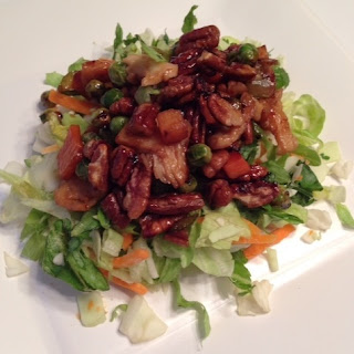 Small Plate Pecan-Sticky Chicken Chop Salads