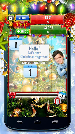 2048 Save Christmas - screenshot