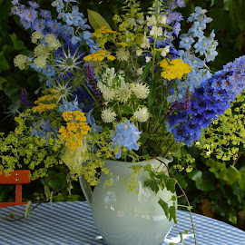 Summer arrangement by Chris Irv - Novices Only Flowers & Plants ( countryside, wildflowers, gardens, flowers, picnic )