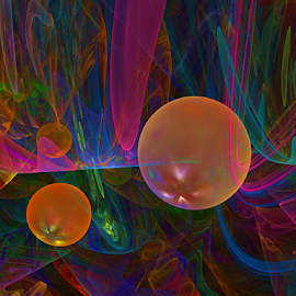 Bubbles abstract by Cassy 67 - Illustration Abstract & Patterns ( digital, love, harmony, surreal, abstract art, surrealism, jwildfire, abstract, fractals, digital art, modern, light, bubble, fractal, bubbles, energy )
