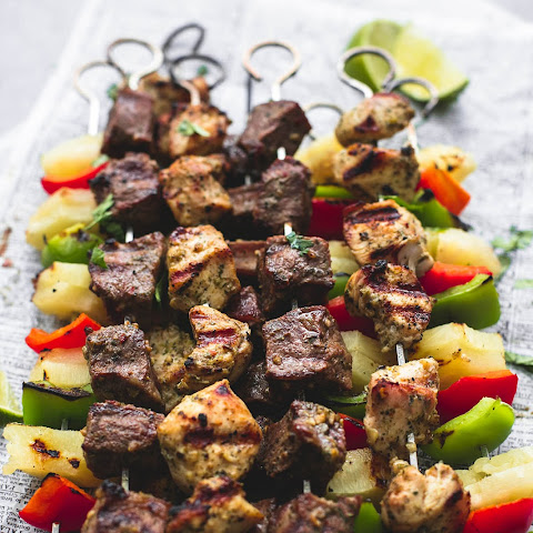 Brazilian Steak & Chicken Kabobs