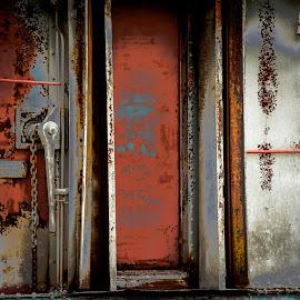 Abandoned train wagon by Jocelyne Maucotel - Transportation Trains ( wagon, train, abandoned )