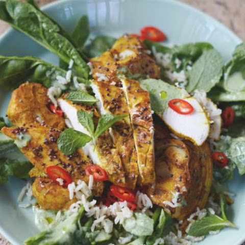 Jamie Oliver's Bombay chicken with cauliflower, rice and spinach