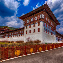 Royal Palace Bhutan by Pravine Chester - Buildings & Architecture Public & Historical ( palace, bhutanese arrchitecture, bullding, historical, bhutan, architecture )