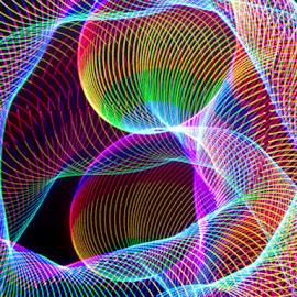 Tubes of light by Jim Barton - Abstract Light Painting ( red, laser light, tubes of light, blue, colorful, light design, green, laser design, laser, laser light show, light, science )
