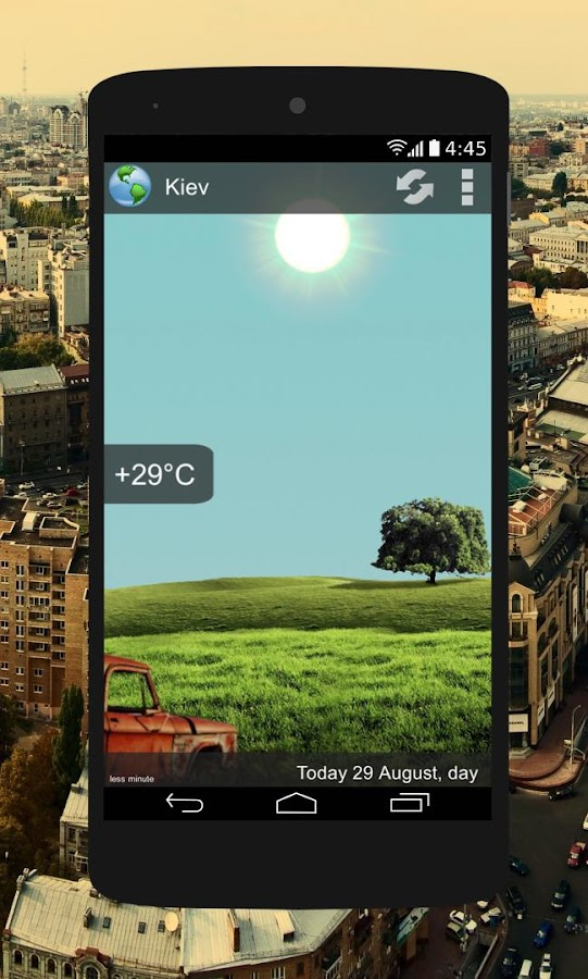 Animated Weather Widget&Clock Screenshot 1