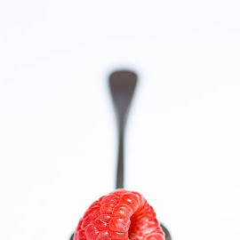 Raspberry by Susan Van Wyk - Food & Drink Fruits & Vegetables ( sweet, red, raspberry, spoon, teaspoon )
