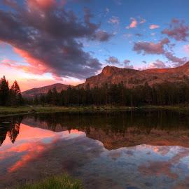 yes by Casey Mitchell - Landscapes Sunsets & Sunrises ( park, yosemite, california, sunset, lake )