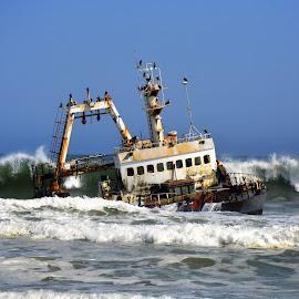 Skeleton Coast, Namibia by Ayrton Adrien - Transportation Boats ( skeleton coast )