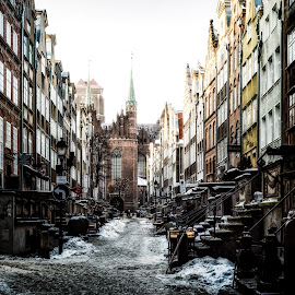 gdansk street by Adam Lang - City,  Street & Park  Neighborhoods ( gdansk, gothic, church, street, poland )