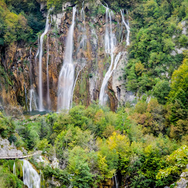 Waterfalls in Plitvice Lakes National Park by Marcin Frąckiewicz - Landscapes Waterscapes ( waterfalls, lakes )