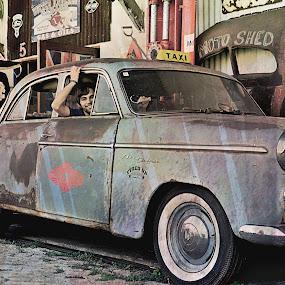 Back in Time by Danette de Klerk - Transportation Automobiles ( wheels, old, vintage, old car, transportation )