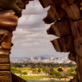 Phoenix Skyline by Fred Herring - City,  Street & Park  Skylines