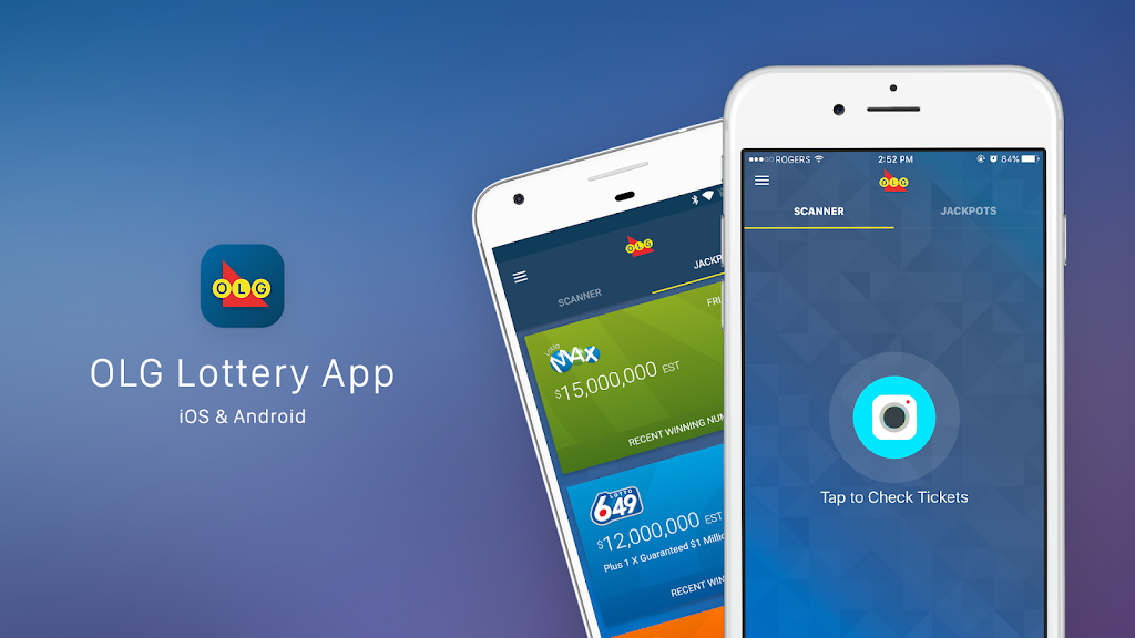 OLG Lottery App, Ticket Checker, Scanner, Mobile App, iOS, Android, Apple