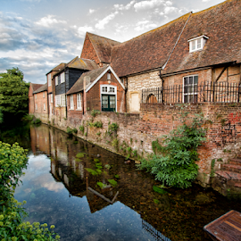 Canterbury Homes by Gianluca Presto - Buildings & Architecture Homes ( sky, reflection, city, united kingdom, house, water, home, water reflection, houses, homes, river, canterbury, architecture )