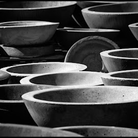 Pottery by Dave Lipchen - Black & White Objects & Still Life ( pottery )
