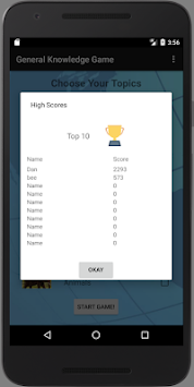 General Knowledge Game By Danie Bester APK screenshot thumbnail 3